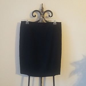 The Limited Black Pencil Skirt with Lace